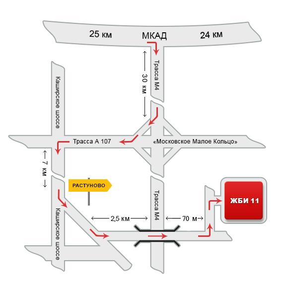 Схема проезда на Комбинат «