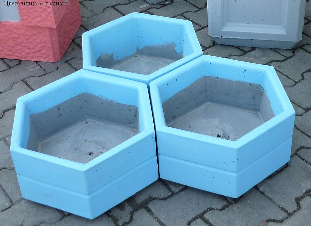 Цветочницу бетонную